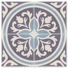 """Mia Primero"" Floral Cement Tile, by Villa Lagoon Tile."