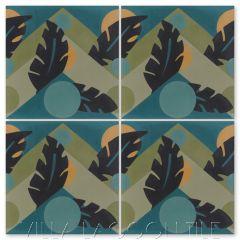 """Moon Over Havana Jazz"" Cuban Cement Tile, by Villa Lagoon Tile."