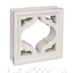 """""""Mykonos"""" Natural White Moroccan Lantern Breeze Blocks, by Villa Lagoon Tile."""