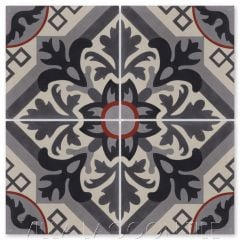 """Nuevo Castillo Newton"" Traditional Floral Cement Tile, from Villa Lagoon Tile."