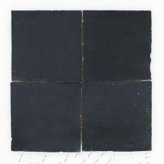 """Obsidian"" Glazed Zellige, a Moroccan Mosaic Tile, from Villa Lagoon Tile."