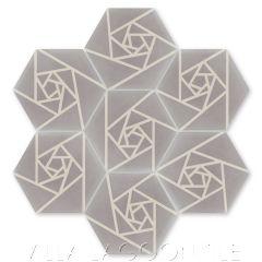 """Origami Carrara"" Modern Hex Cement Tile, by Villa Lagoon Tile."
