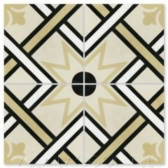 """Orleans Buff"" Traditional Cement Tile, from Villa Lagoon Tile."
