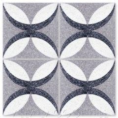 """Petalos Pebble Terrazzo"" Geometric Cement Tile, from Villa Lagoon Tile."