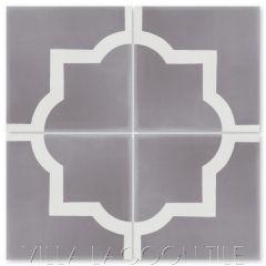 """""""Piazza Grande Sencillo"""" Classic Quatrefoil Cement Tile, from Villa Lagoon Tile."""