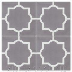 """Piazza Petite Sencillo"" Classic Quatrefoil Cement Tile, from Villa Lagoon Tile."