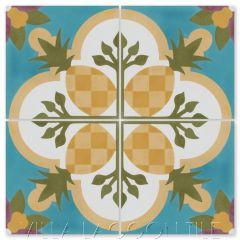 """Pineapple A Primero"" Coastal Cement Tile, by Villa Lagoon Tile."