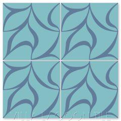 """Plumeria Uno Bimini"" Modern Cement Tile by Neyland Design, from Villa Lagoon Tile."