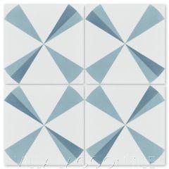 """""""Polaris Azul"""" Modern Cement Tile, by Villa Lagoon Tile."""