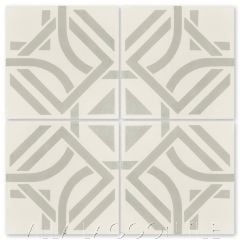 """Portals Linen"" Modern Cement Tile by Neyland Design, from Villa Lagoon Tile."