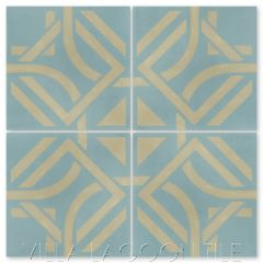 """""""Portals Stone Blue"""" Modern Cement Tile by Neyland Design, from Villa Lagoon Tile."""