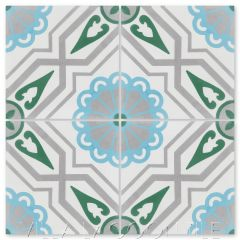 """Provincial Frost"" Traditional-Style Cement Tile, by Villa Lagoon Tile."