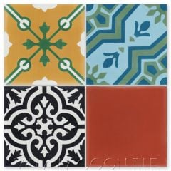 "Colorful ""Patchwork Color"" Cement Tile, from Villa Lagoon Tile."