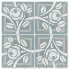 """Rosetta Monterey"" Modern Floral Cement Tile by Neyland Design, from Villa Lagoon Tile."