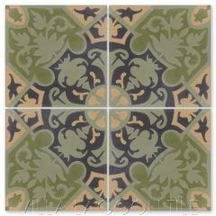 """Rumba Fresco"" Cuban Floral Cement Tile, from Villa Lagoon Tile."