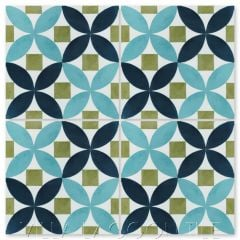 """""""Saint Mark's Bimini"""" Venetian Mosaic Cement Tile, from Villa Lagoon Tile."""