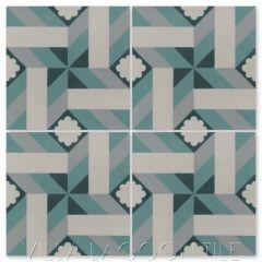 """Samba Salto"" Geometric Cuban Cement Tile, from Villa Lagoon Tile."