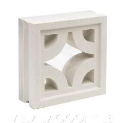 """Samoa"" Natural White Geometric Breeze Blocks, by Villa Lagoon Tile."