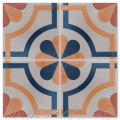 """Sicily Catania"" Traditional Cement Tile, by Villa Lagoon Tile."