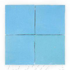 """Sky Blue"" Glazed Zellige, a Moroccan Mosaic Tile, from Villa Lagoon Tile."