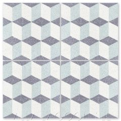 """Small Cubes Mint to Be Terrazzo"" Geometric Cement Tile, from Villa Lagoon Tile."