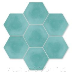 Solid Hex Bimini Cement Tile, SB-4020, from Villa Lagoon Tile.