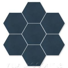 Solid Hex Navy Cement Tile, SB-4801, from Villa Lagoon Tile.
