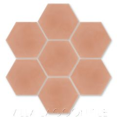 Solid Hex Smoky Coral Cement Tile, SB-5005, from Villa Lagoon Tile.