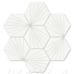 """Spark C Dover"" Geometric Hex Cement Tile, from Villa Lagoon Tile."