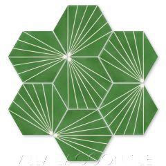 """Spark C Monte Verde"" Geometric Hex Cement Tile, from Villa Lagoon Tile."