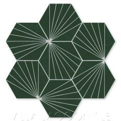 """Spark C Summer"" Geometric Hex Cement Tile, from Villa Lagoon Tile."