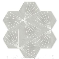 """Spark C Winter"" Geometric Hex Cement Tile, from Villa Lagoon Tile."