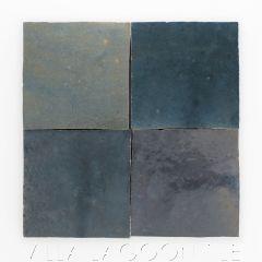 """Midnight Swim"" Glazed Zellige, a Moroccan Mosaic Tile, from Villa Lagoon Tile."