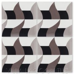 """Swagger Sencillo"" Modern Cement Tile by Neyland Design, from Villa Lagoon Tile."