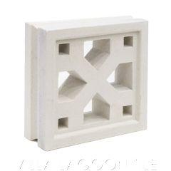 """""""Tahiti"""" Natural White Geometric Breeze Blocks, by Villa Lagoon Tile."""
