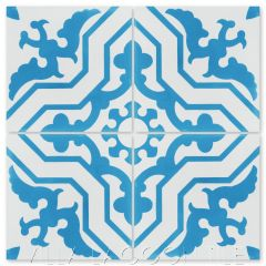 """Talia Azure"" Traditional Cement Tile, from Villa Lagoon Tile."