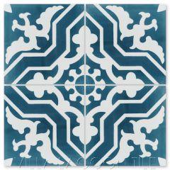 """Talia Twilight"" Traditional Cement Tile, from Villa Lagoon Tile."