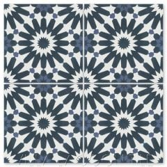 """Tangier Petite Blues"" Moroccan Cement Tile, from Villa Lagoon Tile."