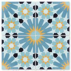 """Tangier Primero"" Moroccan Cement Tile, from Villa Lagoon Tile."