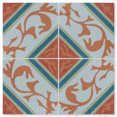 """Tango Autentico"" Cuban Cement Tile, from Villa Lagoon Tile's Cuban Tile Collection."