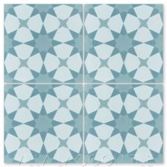 """Taza Blues"" Moroccan Cement Tile, from Villa Lagoon Tile."