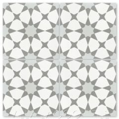 """Taza Silver"" Moroccan Cement Tile, from Villa Lagoon Tile."