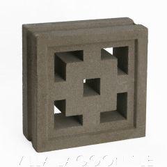 """Tonga"" Natural Gray Geometric Breeze Blocks, by Villa Lagoon Tile."