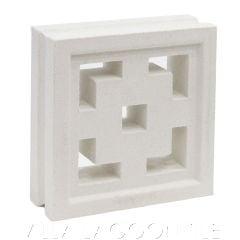 """""""Tonga"""" Natural White Geometric Breeze Blocks, by Villa Lagoon Tile."""