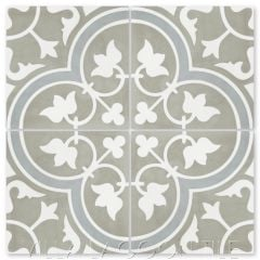 """Tulips B Holland"" Traditional Floral cement tile, from Villa Lagoon Tile."