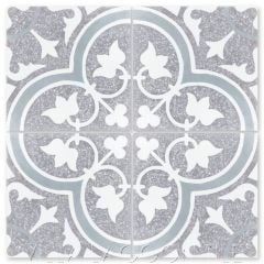 """Tulips B Holland Terrazzo"" Traditional Floral cement tile, from Villa Lagoon Tile."