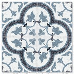 """""""Tulips B Spring Terrazzo"""" Traditional Floral cement tile, from Villa Lagoon Tile."""
