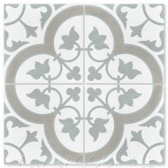 """Tulips B Vintage"" Traditional Floral cement tile, from Villa Lagoon Tile."