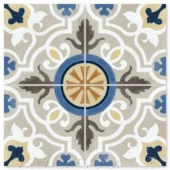 """Vienna Frost"" Floral Cement Tile, from Villa Lagoon Tile."