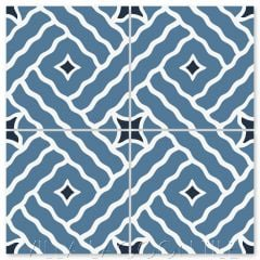 """Wiggle Room Royal Blue"" Modern Cement Tile by Neyland Design, from Villa Lagoon Tile."